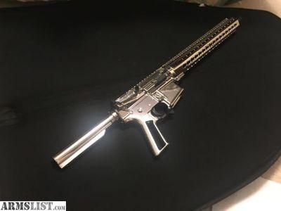 For Sale/Trade: Chrome plated AR 47 AR 15