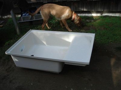 "Find RV / Trailer Tub, Duo Form, 30"" X 43"" X 10.5"". Right Hand Bath Tub, New, Off Wh motorcycle in Adrian, Michigan, US, for US $90.00"