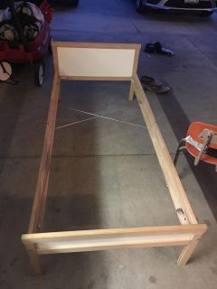 Ikea Toddler bed with wood slates and Mattress