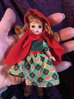 Madame Alexander little red riding hood doll. Vintage. Her eyes open and close