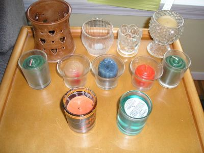 VOTIVE CANDLES AND HOLDERS