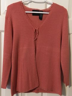 Coral Sweater Vest with Cardigan