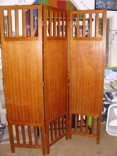 3 PANEL SOLID WOOD ROOM DIVIDER