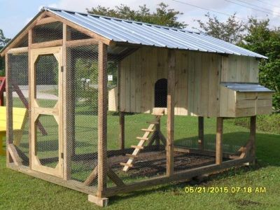 walk in chicken coop