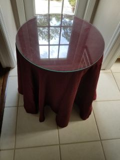 Glass and fabric table (2)