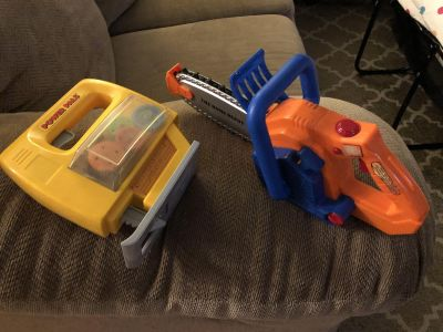 Jigsaw and chainsaw tool toys, GUC