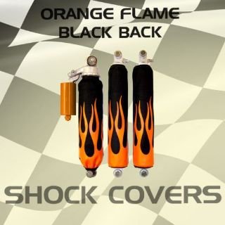 Find Yamaha raptor 350 Orange Flame Black Shock Cover #his12037 lws4047 motorcycle in Milwaukee, Wisconsin, United States, for US $29.99