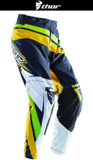 Buy Thor Prime Slice Green Black Sizes 28-38 Dirt Bike Pants Motocross MX ATV 2014 motorcycle in Ashton, Illinois, US, for US $109.95