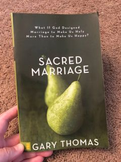 Sacred Marriage, good used condition, $3. Porch pick up only.