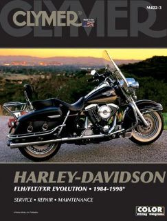 Sell 1984-1998 Harley Davidson FLH/FLT/FXR Evolutn CLYMER MANUAL H-D FLH/FLT/FXR EV motorcycle in Ellington, Connecticut, US, for US $47.95