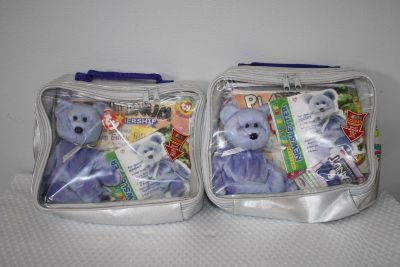 1999 Ty Beanie Baby Official Club Limited Edition Platinum Membership Kit