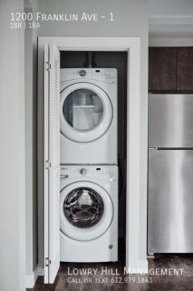 One Bedroom! Washer and Dryer in Unit! ONE MONTH FREE RENT!