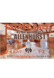 Estate Sales By Olga is in Allenhurst for a Liquidation Sale - House LOADED