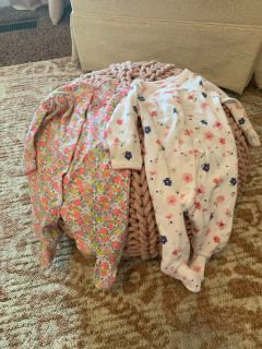 Carters button up footed sleepers