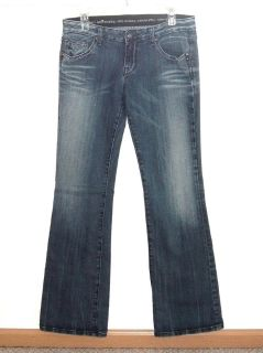 Womens 8 ReRock for Express Boot Cut Denim Jeans Womens 8R Stretch 8 x 32 Tall