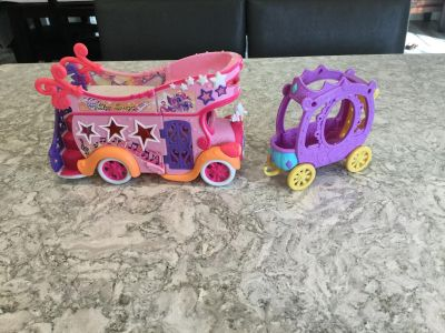 My Little Pony rock n roll tour bus and trailer