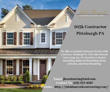203k Contractor Pittsburgh PA