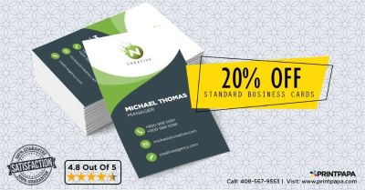 Get 20% Off on Standard Business Cards