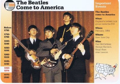 The Beatles Come to America in 1964 Grolier 1995 Information Card