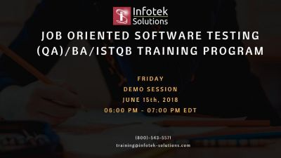 DEMO CLASS : Software testing/ QA/ BA/ISTQB Certification Training