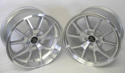 "Purchase Silver Mustang FR500 Wheels 18x9 & 18x10 1994-2004 18"" Rims Deep Dish 18 INCH motorcycle in Katy, Texas, US, for US $448.50"