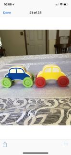 2 Wooden Cars