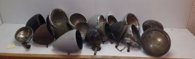 Find Lot of 18 Vintage Used Headlight Buckets Varying From Ford, GM, and Mopar. motorcycle in Arcanum, Ohio, United States