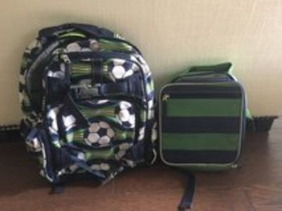 Pottery Barn Kids Soccer Backpack & Lunchbox
