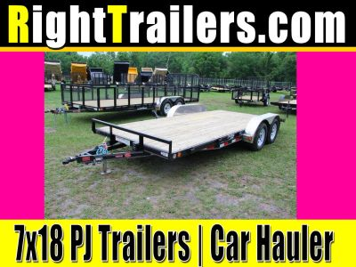 7x18 PJ Trailers | Car Hauler [C4] - Contact Seller for Pric