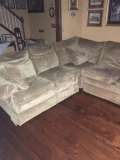 Gold Sectional Recliner/Sofa- FREE