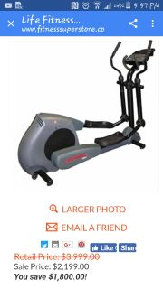 Life Fitness elliptical 9100