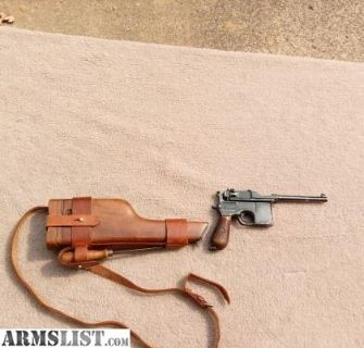 For Sale: Comm. Mauser C96 Broomhandle Rig unit marked