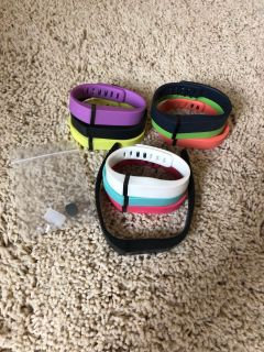 Fitbit Flex compatible colored bands. 10 different colors in all. Great condition.