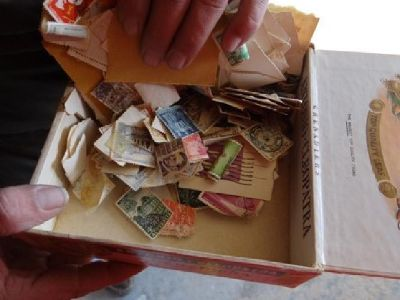 $250 OBO Collectible Stamps with Cigar box