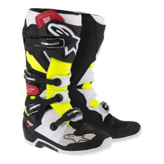 Buy NEW ALPINESTARS TECH 7 MX DIRT BIKE RIDING BOOTS BLACK / RED / YELLOW ALL SIZES motorcycle in Chino, California, US, for US $349.95