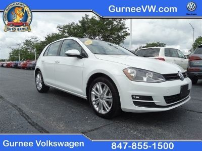 2015 Volkswagen Golf TDI SE 4-Door (Pure White)