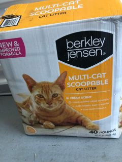 Berkley Jensen Multi Cat Scoopable Cat Litter 40lb Box Porch Pick up Available. Staples Mill at 295.