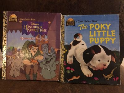 2 Golden Books- Disney The Hunchback Notre Dame and The Poky Little Puppy