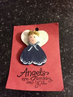 Angel Christmas pin