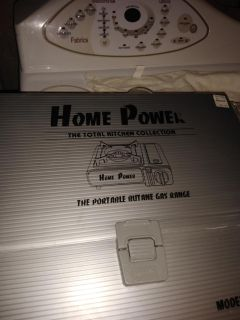 Home power camping grill. New