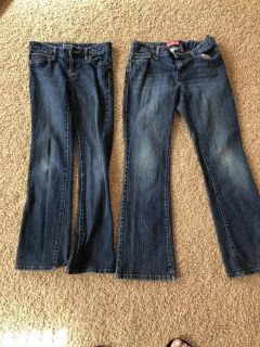 Girls Old Navy Jeans size 10 regular and 10 Plus. $5 for both