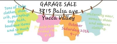 baby and maternity garage sale