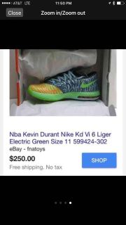 Kevin Durant NIKES LIGER special edition