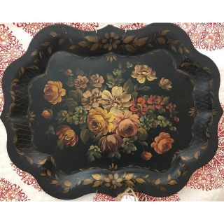 Floral Tole Tray