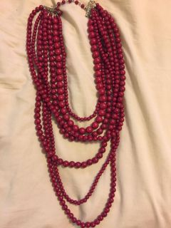 Red Fashion 7-Layer Necklace