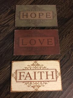 3 Hobby Lobby Wall Plaques