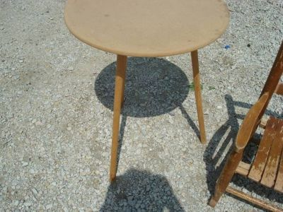 "3 leg - round table (does not have glass) shown ""as is"""