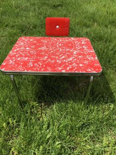 Vintage American Girl Retro Chrome Table And Chair (Molly s Kitchen)