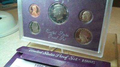 1986-S proof coin set