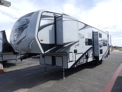 2020 Eclipse ATTITUDE 3322SAG, 2 SLIDES, 2 AIR CONDITIONERS, 18.3 CU FT FRIDGE, 210 WATT SOLAR PANEL, RAMP DOOR PLAYPEN, ELECTRIC DINETTE, 2 LED TV'S